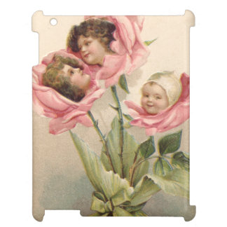 Cute Children Pink Roses Rose Cover For The iPad 2 3 4