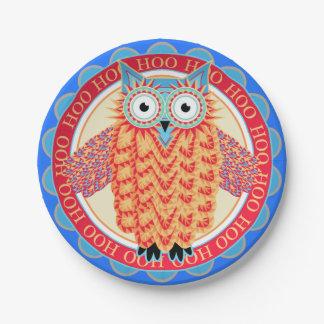 Cute Children's Birthday Owl Hoo Hoo! Paper Plate