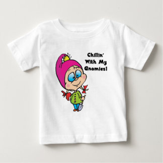 Cute Chillin With My Gnomes Design Baby T-Shirt