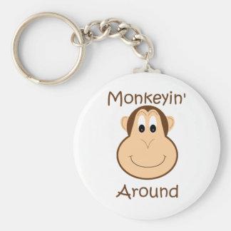 Cute chimp keychain