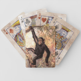 Cute Chimpanzee Bicycle® Playing Cards