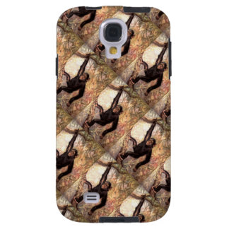 Cute Chimpanzee Hanging in Jungle Tree Wildlife Galaxy S4 Case