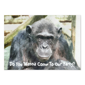 CUTE CHIMPANZEES CARD