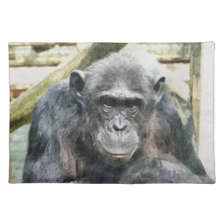 CUTE CHIMPANZEES PLACEMAT