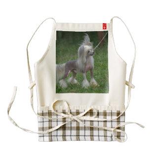 Cute Chinese Crested Dog Zazzle HEART Apron