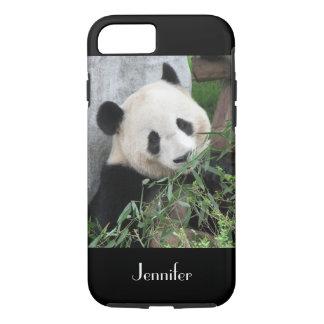 Cute Chinese Giant Panda Black Trim, Custom Name iPhone 7 Case