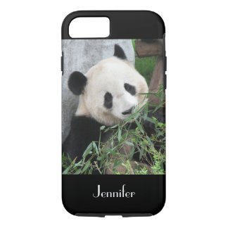 Cute Chinese Giant Panda Black Trim, Custom Name iPhone 8/7 Case