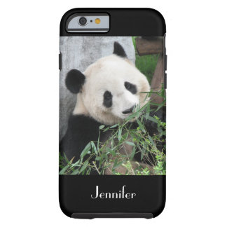 Cute Chinese Giant Panda Black Trim, Custom Name Tough iPhone 6 Case