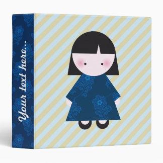Cute chinese girl 3 ring binder
