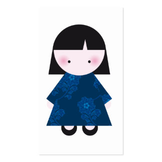 Cute chinese girl Double-Sided standard business cards (Pack of 100)
