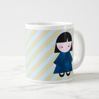 Cute chinese girl giant coffee mug