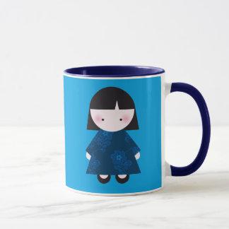 Cute chinese girl mug