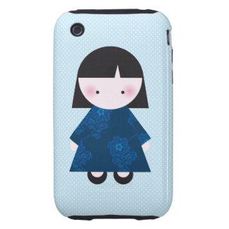 Cute chinese girl tough iPhone 3 case
