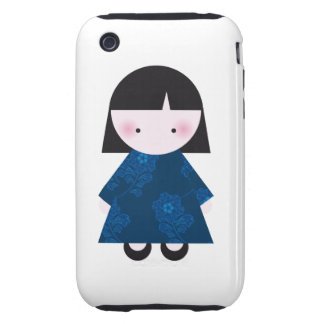 Cute chinese girl tough iPhone 3 cover