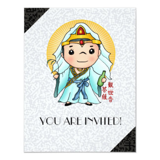 Cute Chinese God Of Compassion Card