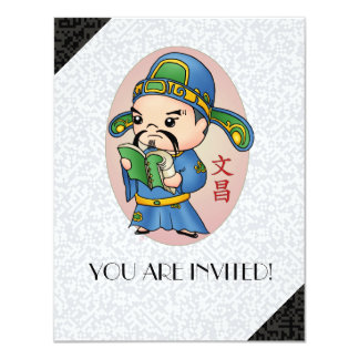 Cute Chinese God Of Education Card