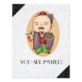 Cute Chinese God Of Health Personalized Invitation