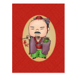 Cute Chinese God Of Health Postcard