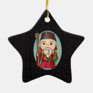 Cute Chinese God Of Land Ceramic Ornament