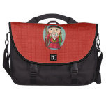 Cute Chinese God Of Land Laptop Bags