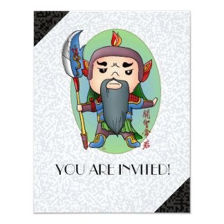 Cute Chinese God Of Success Card