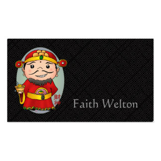 Cute Chinese God Of Wealth Business Card