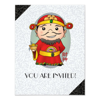 Cute Chinese God Of Wealth Card
