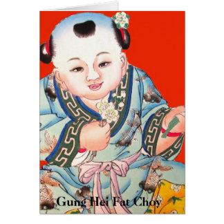 Cute Chinese Laughing Buddha Chinese New Year Card