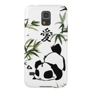 """Cute Chinese """"Love"""" Panda with Bamboos Galaxy S5 Case"""