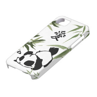 """Cute Chinese """"Love"""" Panda with Bamboos iPhone SE/5/5s Case"""