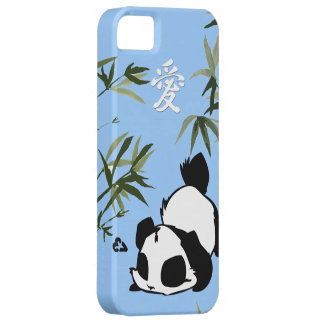 "Cute Chinese ""Love"" Panda with Bamboos iPhone SE/5/5s Case"
