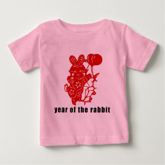 Cute Chinese Paper Cut Year of The Rabbit Baby T-Shirt