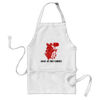 Cute Chinese Paper Cut Year of The Rabbit Gift Adult Apron