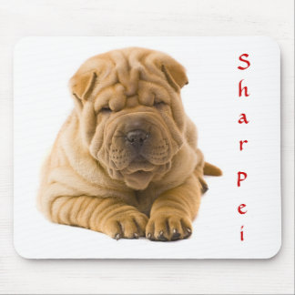 Cute Chinese Shar Pei Puppy Mousepad