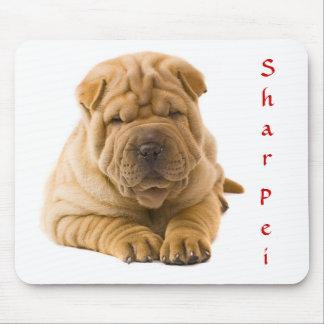 Cute Chinese Shar Pei Puppy Mousepad