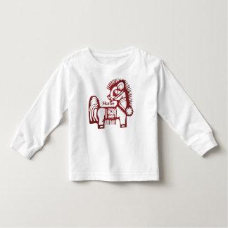 "Cute Chinese ""Year of the Horse"" Papercut Artwork Tees"