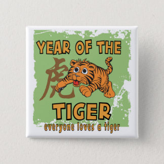 Cute Chinese Year of The Tiger Button