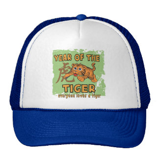 Cute Chinese Year of The Tiger Trucker Hat