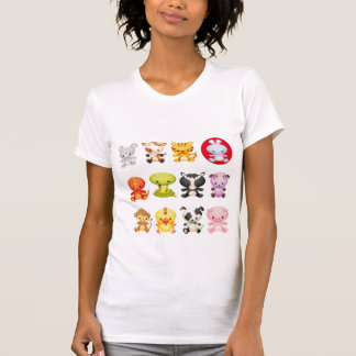 Cute Chinese Zodiac Cartoon Animals T-Shirt