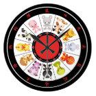 Cute Chinese Zodiac Circle wall clocks