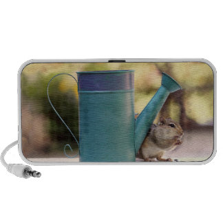 Cute Chipmunk and Watering Can Picture Speaker