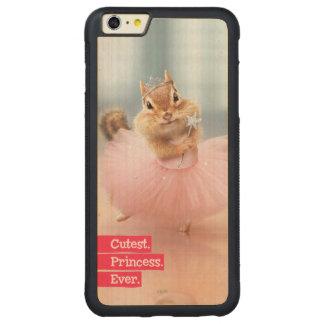 Cute Chipmunk Ballerina in tutu at Dance Studio Carved Maple iPhone 6 Plus Bumper Case