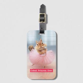 Cute Chipmunk Ballerina in tutu at Dance Studio Luggage Tag