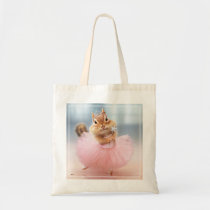 Cute Chipmunk Ballerina in tutu at Dance Studio Tote Bag