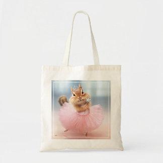 Cute Chipmunk Ballerina in tutu at Dance Studio Tote Bag