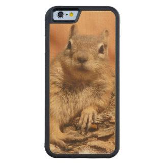 Cute Chipmunk Carved® Maple iPhone 6 Bumper