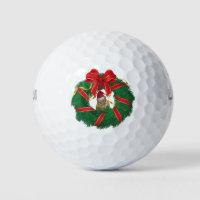 Cute Chipmunk Christmas Wreath Golf Balls