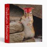 "Cute Chipmunk Graduate 1"" Photo Album Vinyl Binder"
