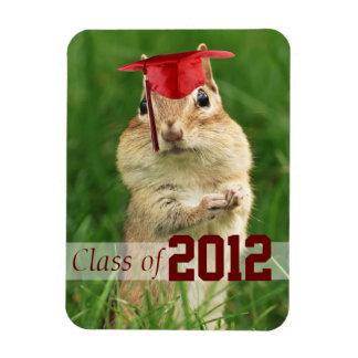 Cute Chipmunk Graduate Magnet