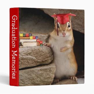 Cute Chipmunk Graduate Photo Album Binders